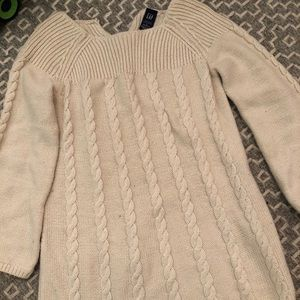 Baby gap sweater dress with slight bell sleeves